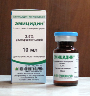 Области применения препарата Эмицидин в ветеринарии