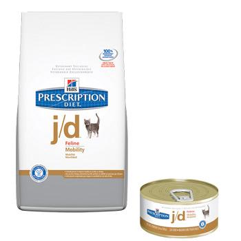 Hill's j/d (Хиллс j/d) для кошек при заболевании суставов