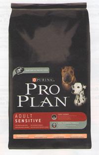 Применение сухого корма PRO PLAN Adult Sensitive для собак с гиперчувствительностью на компоненты пищи